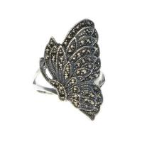 Wholesale Women Vintage Butterfly Thai 925 Silver Marcastie Ring(MKS20213) from china suppliers