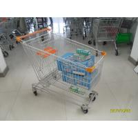 Wholesale Asian Type 180L Supermaket Wire Shopping Cart Trolley With 4 Inch Flat TPE Casters from china suppliers