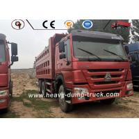 6x4 Used 10 Wheeler Truck , Sinotruk Howo Second Hand Tipper Trucks ISO SGS for sale