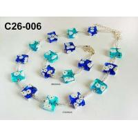 Wholesale Green bead glass lampwork necklace jewelry As Party Gift Plated Zinc from china suppliers