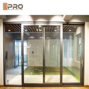 Wholesale Slim Frame Aluminium Sliding Doors , Soundproof Interior Sliding Glass Doors from china suppliers