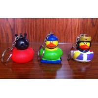 Wholesale Various Mini Keychains Duck Toy , LED Character Rubber Duck Keychains Ring from china suppliers
