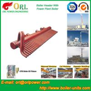 Quality ASME Standard Low Loss Header Boiler Parts / Boiler Steam Header Customization for sale