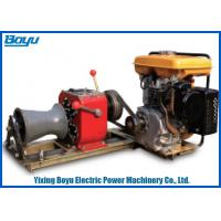 Wholesale 230kg 30KN Pull Force 1 Or 2 Gear Stringing Equipment Diesel Power Winch from china suppliers