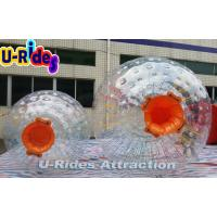 China Eco - Friendly Children Inflatable Zorb Ball / Orange Water Running Ball on sale