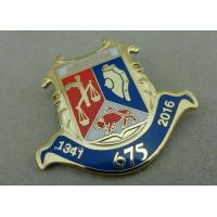 Buy cheap Smooth Back Custom Cloisonne Hard Enamel Pin Copper Die Struck For Sports from Wholesalers