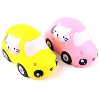 Wholesale Boys Funny Gift Stress Relieve Kitty Car Educational PU Foam Slow Rising Squishy Toys from china suppliers