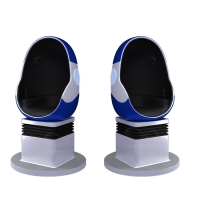 Wholesale 10 Square Meters Single Seat 9D VR Egg Chair with DPVR E3 2K Glasses from china suppliers