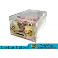 Wholesale Acrylic Casino Card Shoe 8 Deck Large Capacity With Bright Metal Lock from china suppliers
