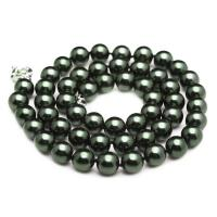 Wholesale Luxury Luster Black Round 10mm Shell Pearls Necklace 22 inches (N10736) from china suppliers