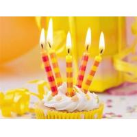 Wholesale Colorful Streak Printable Birthday Candles Long Burning Time No Dripping Unscented from china suppliers