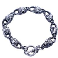 Wholesale 925 Sterling Silver Sheep Skull Retro Men Bangle Bracelet (XH056067W) from china suppliers