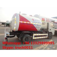 Buy cheap good performance 5,500L lpg gas filling tank truck for retail and mobile selling, 2tons mobile lpg gas dispensing truck from Wholesalers