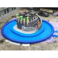 Wholesale Summer Water Game Jungle Themed Inflatable Blow Up Water Park With Centre Slide from china suppliers
