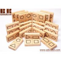 Wholesale Wooden domino game geometric shape dominoes eco friendly toy kids wooden toys waldorf toy 9 X 4,5 X 1,5 cm from china suppliers