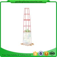 "Wholesale Large Tall Tomato Plant Stakes , Red Heavy Duty Tomato Cages size 14"" in diameter x 66"" H overall Fabric is imported from china suppliers"