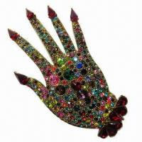 Wholesale Hand-shaped Metal Brooch with Gold Plating from china suppliers