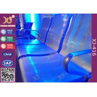 Powder Coated Steel Beam PU Cushion Waiting Lounge Chairs For Station