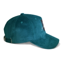 Wholesale Corduroy 5 Panel Baseball Cap With Self Strap Sublimation Patch from china suppliers