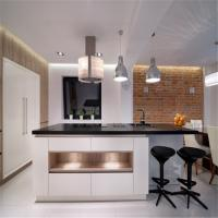 Wholesale Free Standing MDF Kitchen Cabinets Quartz / Granite Countertop Easy For Cleaning from china suppliers