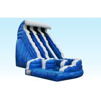 Wholesale Giant 18FT Ocean Wave Slide , PVC Material Inflatable Outdoor Water Slides from china suppliers