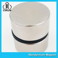 Quality Thick Disc Industrial Neodymium Magnets Large Size Zinc Nickel NiCuNi Coating for sale