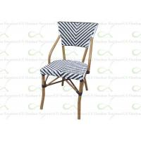 Wholesale Outdoor Dining Chairs Restaurant Chair Faux Bamboo Black and White Accents from china suppliers