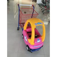 Wholesale 95 L Basket Volume Childrens Metal Shopping Trolley Travelator Casters CE / GS / ROSH from china suppliers