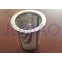 China Low Carbon Steel Wire Mesh Filters Powder Coating Canister With Conical Hole on sale
