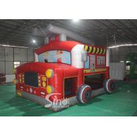 The Blow Up Fire Truck Inflatable Bouncy Castle For Kids And Adults Party Time for sale
