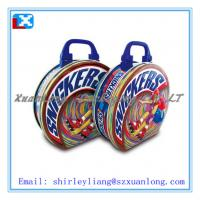 Wholesale round lunch tin box with handle&lock/metal tin lunch box from china suppliers