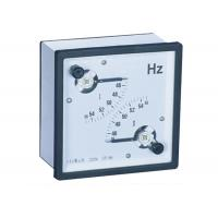 96 * 96  45 - 65 Hz Analogue Panel Meters ,  Dual Frequency Meter for sale
