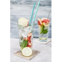 Buy cheap 19.7 Cm Kraft Spiral Blue And White Paper Straws Environmental Protection from wholesalers