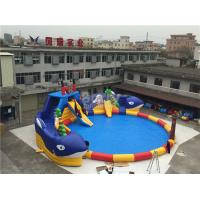 Wholesale Summer Sharp Inflatable Water Park , Crocodile Island Inflatable Water Slide from china suppliers