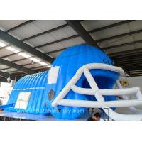 Wholesale Large Blue Black American Raiders Inflatable Football Helmet Tunnel from china suppliers