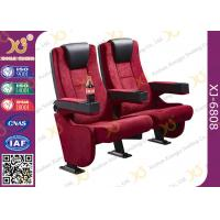 Buy cheap Rocker Back luxury Movie Theatre Auditorium Chair With Tablet Arms from wholesalers