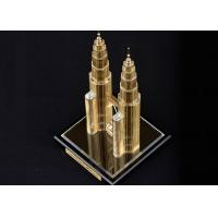 China Famous Building Home Decorations Crafts , Malaysia Twin Tower Tourism Souvenirs on sale