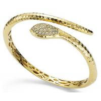 Wholesale Beautiful Yellow Gold Snake Bangle Bracelet Ecological Brass Base from china suppliers