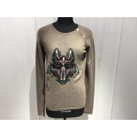 Wholesale Computer Cable Knitted Womens Cashmere Sweaters Embroidered Fox Head Logo from china suppliers
