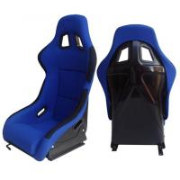 Wholesale Fabric + Blk Fiber Glass Bucket Racing Seats With Belt Harness Holes from china suppliers