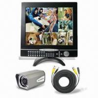Wholesale All-in-one 17-inch 4CH LCD DVR, Supports DDNS and Multiple Languages from china suppliers