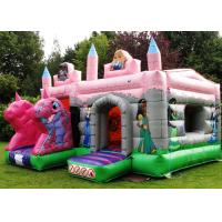 Wholesale Logo Printing Pink Fairytale Bounce And Slide Inflatable Combo Castle For Children from china suppliers