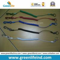 Custom Different Colors Sainless Steel Wire Coil Tool Lanyard Holders for sale