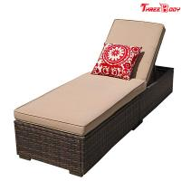 Wholesale Patio Chaise Outdoor Lounge Sofa Adjustable Hight With Cushion Espresso Brown from china suppliers
