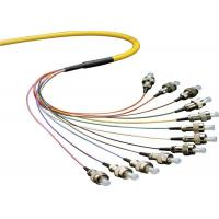 Bunch Optical Fiber Pigtail SM MM 0.9 / 2.0mm 48 Cores Duplex With FC Connector for sale