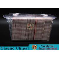 Wholesale Anti - Theft Transparent 8 Decks Poker Discard Holder For Card Entertainment from china suppliers