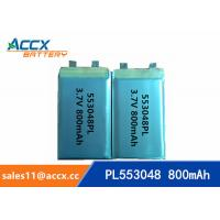 Wholesale 553048 pl553048 3.7v 800mah lithium polymer rechargeable battery for portable pinter from china suppliers