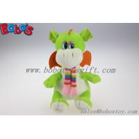 Wholesale 100% Polyester Green Cuddly Plush Dinosaur Toy With Scarf For Kids from china suppliers