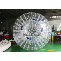 Wholesale White Outdoor Inflatable Toys Inflatable Body Glow Zorbing Ball With LED Light from china suppliers