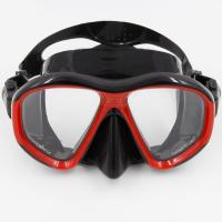 Wholesale Adult Liquid Silicone Free Diving Mask With Tempered Glasses Lens from china suppliers